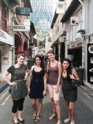 My Singapore beauties. This was our first picture together.