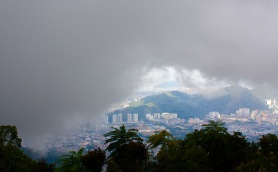Cool moment at Penang Hill as the clouds descended.
