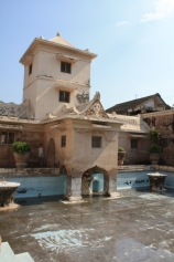 The sultans palace and the pool his wives would bathe in.
